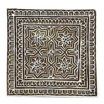 Indian Hand Carved Textile Printing Blocks Wooden Fabric Stamps