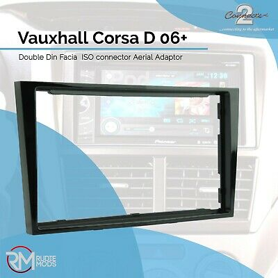 Connects2 CT24VX18 Double Din Radio Facia Vauxhall Corsa D 06 on Piano Black