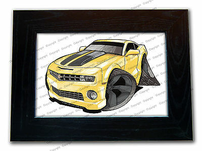 CHEVROLET CAMARO Sports Car Official Koolart Quality Glass Framed Picture