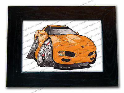 CHEVROLET CORVETTE C5 Sports Car Official Koolart Quality Glass Framed Picture