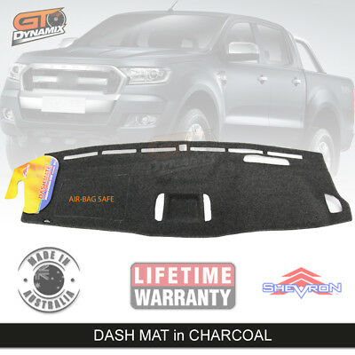 DASH MAT FORD RANGER PX XLT MARK 11 CHARCOAL 6/2015-17 Driver Impair DM1402 MK2