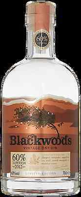 Blackwoods Vintage Dry Gin 60%. Limited edition.
