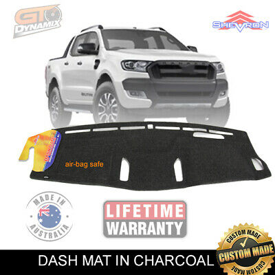 DASH MAT FORD RANGER PX WILDTRACK MARK 11 in CHARCOAL 6/2015-ON DM1403 MK11