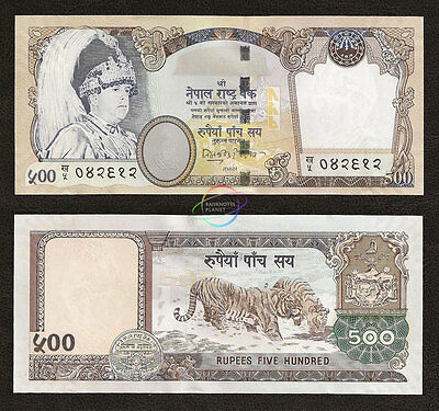 NEPAL 500 Rupees, Sign 15, 2002, P-50, Tiger, UNC