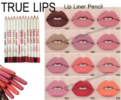 lipliner mixed colours lip liner, longlasting TRUE LIPS UK SELLER fast delivery