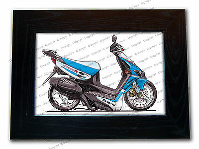 SUZUKI KATANA 50cc Moped Scooter Official Koolart Quality Glass Framed Picture