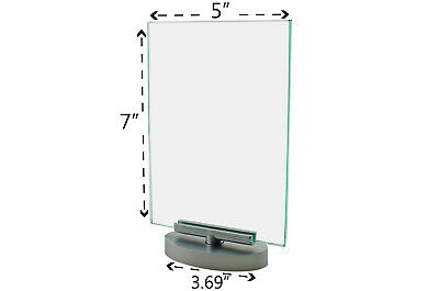 "Premium Acrylic 5""W x 7""H Rotating Table Sign Holder & Frame"