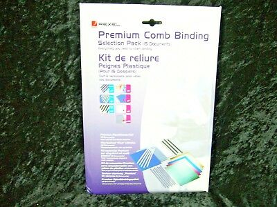 Rexel Premium Comb Binding Selection Pack 2101319 Starter Kit Combs & Covers