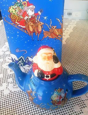 Paul Cardew Santa Claus Christmas Teapot Retired 18oz NEW IN BOX
