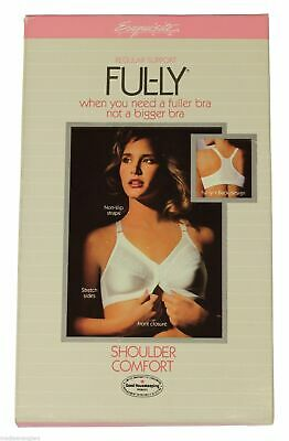 NEW VTG 80s Exquisite Form FUL-LY BRA Shoulder Comfort Front Closure 40 C White