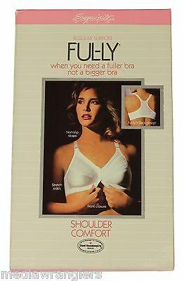NEW VTG 80s Exquisite Form FUL-LY BRA Shoulder Comfort Front Closure 42 B White