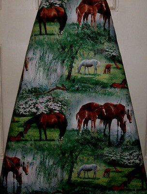 """Ironing board cover """"Horse Valley"""" 18 X 54!"""