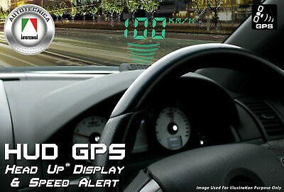 2017 Head-Up Display Hud Internal Gps 12 Volt Digital Led Speedo Speed Warning