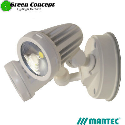 NEW Martec Fortress LED WHITE Double Spot Flood Light Exterior 26w IP54