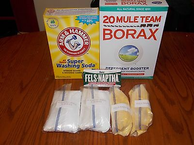 20 GALLON HOMEMADE LAUNDRY  DETERGENT  SOAP KIT ( 1 Gallon Recipe Included )