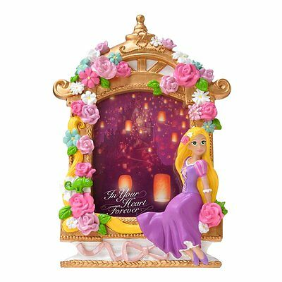 Disney store Pink Rose flower Rapunzel Photoframe Stand from Japan Brand NEW F/S