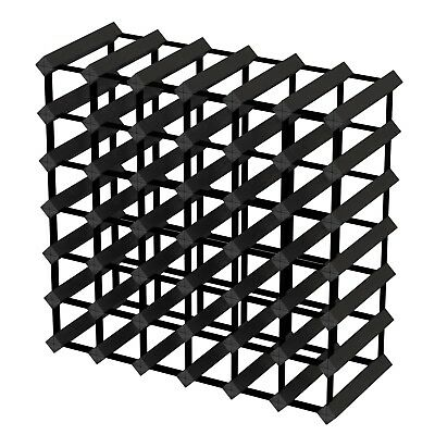 42 Bottle Timber Wine Rack - Black Onyx - Fully Assembled & Delivered