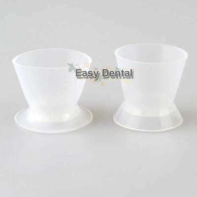 2pcs New Dental Lab Flexible Silicone Dappen Dish Mixing Bowl Cup