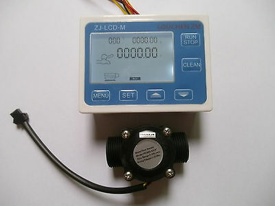 Digital Water Flow Consumption Meter Reader LCD Display Garden