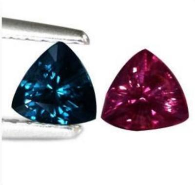 GARNET BLUE COLOR CHANGING 0.49 cts . VS. Madagascar With Certificate