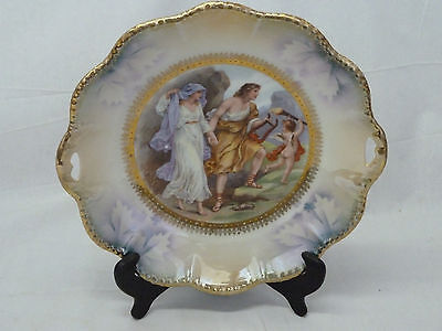 Antique K. St. T Silesia Germany Porcelain Portrait Plate 1915 - 28 Kuno Steinma