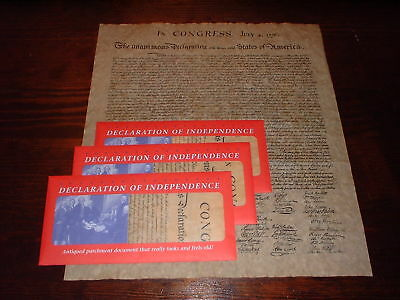 Declaration of Independence, Parchment Reproduction X 3