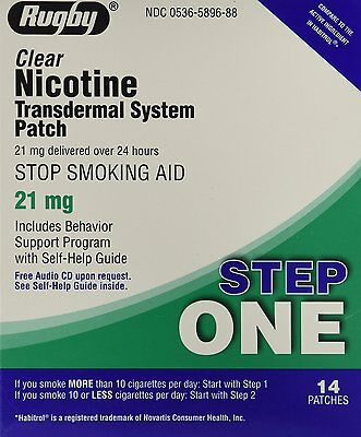 Rugby Nicotine Transdermal System Step 1 (21mg) 14 Patches