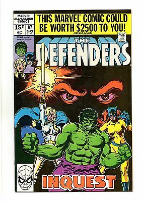 Defenders Vol 1 No 87 Sep 1980 (VFN+ to NM-) Marvel, Modern Age (1980 - Now)