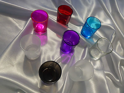 Bulk 12 coloured-clear-frosted votives kit Soy wax 4 x 30ml oils thermometer etc