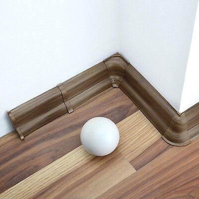 52mm PVC PRESTIGE OAK 2.5m SKIRTING BOARD & ACCESSORIES strip wall floor cover