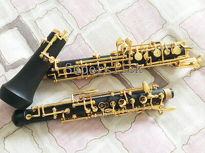 GOLD Plated Semiautomatic Oboe,  C Key with 3rd Octave Keys FREE SHIPPING TO USA