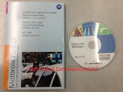 Motorola Radio User Guide Reference Cards Data CD Astro XTS 1500 2500 MT1500
