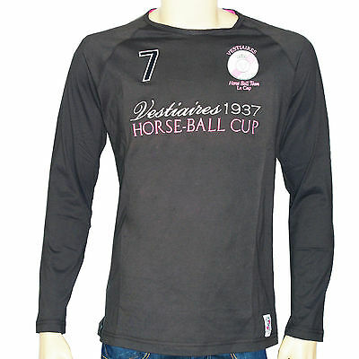 Tee shirt manches longues VESTIAIRES homme TS HORSE BALL ARMY marron
