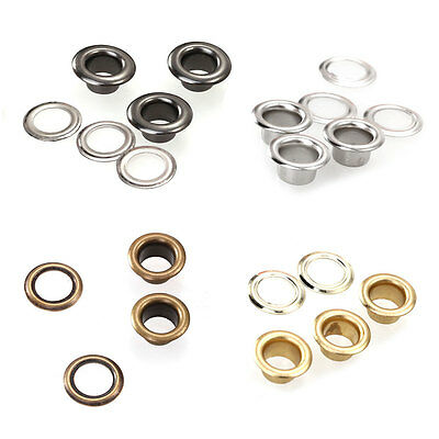 Set 100pcs Metal Eyelets Grommets with Washers for Leather Craft DIY Sewing