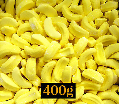 Bananas Lollies 400g Bulk - Birthday, Party, Candy or Lolly Buffet