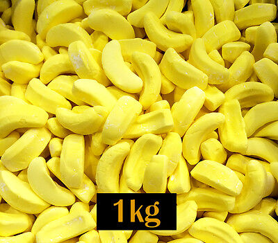 Bananas Lollies 1kg Bulk - Birthday, Party, Candy or Lolly Buffet