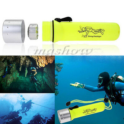 2000LM CREE Q5 LED Waterproof Diving Flashlight Underwater Lamp Torch Light 3W