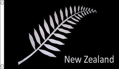 New Zealand Fern Kiwi All Blacks Wolrd Cup Rugby Flag 5Ft X 3Ft