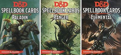 D&D-Spellbook-Cards-Deck-PALADIN-RANGER-ELEMENTAL-Card Game-Roleplaying-neu-new