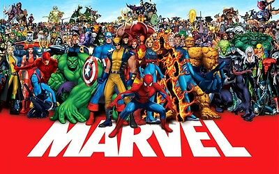 Marvel Line UP 2015 Super Heroes Universe 22x36 inch Poster Hulk and Captain 02