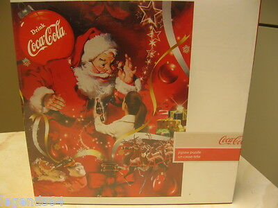 "Coca Cola 1000 Piece Puzzle ""bless You Santa"" Nib And Sealed"
