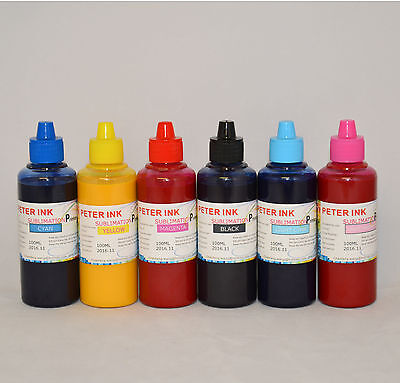 6X100ml sublimation ink for epson 1400 Artisan 1430 CIS CISS 79 printer