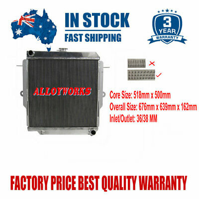 3ROW Aluminum Radiator For Toyota LandCruiser 75 Series HZJ75 90-01 MT