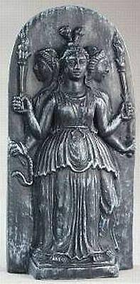 Hecate Hekate Triple Goddess Maiden Mother Crone Wiccan Pagan Statue #HC7