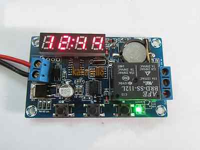 DC 12V Digital Electronic Clock Module Real-time Relay Timing Control Board