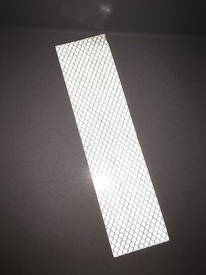3M White Engineer Prismatic Grade 3430 Adhesive Reflective Tape Strip 50mmx200mm