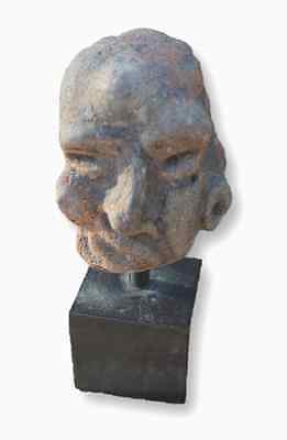 2nd - 1st Century B.C. - Greek Terracotta Head of a Grotesque Man - Museum Piece