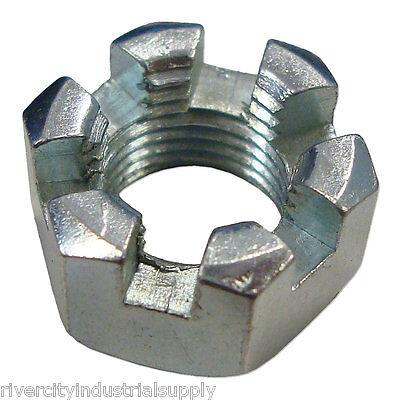 (150) 1/2-13 Slotted Hex Castle Nut Zinc Plated 1/2 x 13 Coarse Thread 150 Pack
