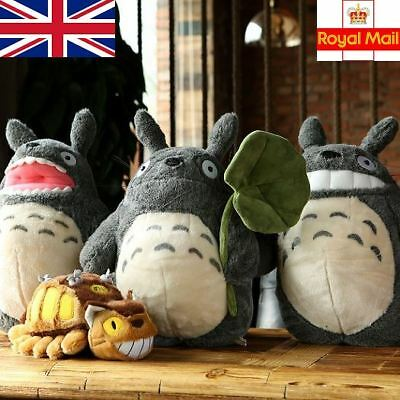 "UK Stock Studio Ghibli My Neighbour Totoro Plush Toy Doll 15"" or Cat Bus 11"""