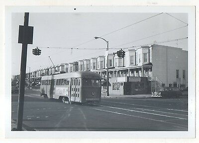 BALTIMORE TRANSIT Trolley enroute to TOWSON MD Maryland 1963 Photograph